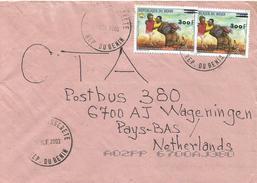 Benin 2003 Akpro-Misserete Entente Overprint 300f On 150f Michel 1342 Cover - Benin – Dahomey (1960-...)