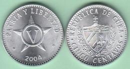 2004-MN-2 CUBA 2006 5c ALUMINIUM. UNC. - Cuba
