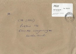 """Mauritius 2014 Reduit Escher """"WebRiposte"""" Post Office Meter Franking Cover - Mauritius (1968-...)"""