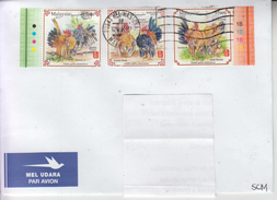 MALAYSIA: CHINESE CALENDAR - ROOSTER YEAR On Circulated Cover - Free Shipping! Port Gratuit ! - Astrologia