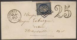 07804 França 4 Ceres Cb Grille C/ Complemento De Porte 1852 - 1849-1850 Ceres
