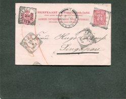 Nederlands-Indië Postcard 1902 With 5 Marks