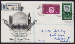 E0138 GREAT BRITAIN (GB) 1961, SG 629-30 7th Commonwealth Parliamentary Conference,  FDC - 1952-.... (Elizabeth II)