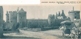 Photo (1953) : MORBIHAN, Suscinio, Magnifique Silhouette Médiévale Au Bord De L'océan (8,5 Cm X 20,5 Cm) - Old Paper