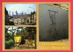 Luxembourg: Villes Minières. Esch-Belval. Monument Le Mineur à Kayl. La Sauvage, Vestiges Miniers - Cartes Postales