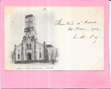 BLIDA - ALGERIE - CPA DOS SIMPLE - Eglise Saint Charles - VAN - - Blida