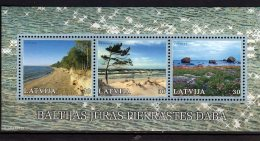 2001 Latvia /Letland -  Baltic Sea Shore - Joint Issue With Lithuania And Estonia - Paper  - MNH** MI B15 - Lettland