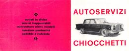 """05643 """"AUTOSERVIZI CHIOCCHETTI - TORINO"""" PIEGHEVOLE PUBBLICITARIO ORIGINALE - Automobili"""