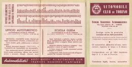 """05644 """"SEGNALETICA STRADALE - AUTOMOBILE CLUB DI TORINO - ANNI '50 DEL XX SECOLO"""" PIEGHEVOLE PUBBLICITARIO ORIGINALE - Automobili"""