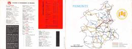 """05645 """"CARBURANTI - ERG ULTRAFORMING - STAZIONI DI RIFORNIM. IN PIEMONTE - ANNI '50"""" PIEGHEVOLE PUBBLICITARIO ORIGINALE - Automobili"""
