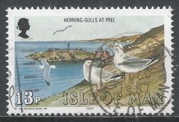 Isle Of Man 1983. Scott #231 (U) Marine Bird: Herring Gulls, Peel * - Man (Ile De)