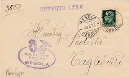 6179 Lc.  Piego Mesola Ferrara  Podestà Taglio Di Po Rovigo 1933 - Marcophilie