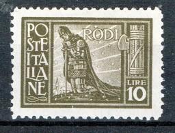 Ägäische Inseln Rhodos 1929 Landschaftsbilder Sassone 11 MH - Ägäis (Rodi)