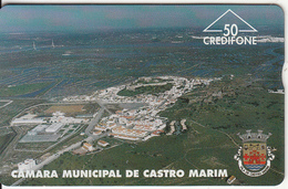 PORTUGAL(L&G) - Camara Municipal De Castro Marim/Vista(50 Units), CN : 606L, Tirage 6000, 06/96, Used - Portugal