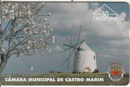PORTUGAL(L&G) - Camara Municipal De Castro Marim/Moinho(50 Units), CN : 606L, Tirage 6000, 06/96, Used - Portugal