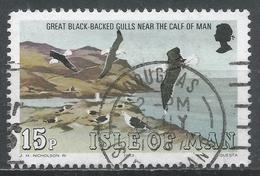 Isle Of Man 1983. Scott #233 (U) Marine Bird: Great Black-backed Gulls, Calf Of Man * - Man (Ile De)