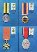 South Africa RSA -1984 - Military Decorations Medals - Complete Set Maximum Cards - Afrique Du Sud (1961-...)