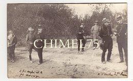 3 Cartes Photos Manoeuvres état Major  Generaux  MATHIS,  METZINGER,   VOYRON, DOUDS,   Avant 1907  Pas De Localisation - Manoeuvres