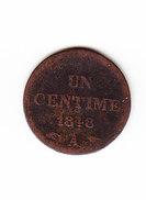 FRANCE KM 754, 1 Ct, 1848 A .   (DP173) - A. 1 Centime