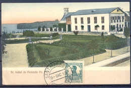 1913 , GUINEA ED. 87 , TARJETA POSTAL DE SANTA ISABEL DE FERNANDO POO , MAT. DE SANTA ISABEL - Guinea Española