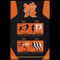 TANZANIA 2012 - Scott# 2657 S/S Olympics MNH - Tanzania (1964-...)