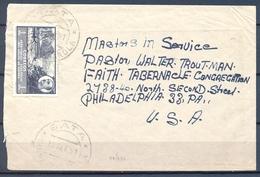 1951 , GUINEA ED. 288 , SOBRE CIRCULADO ENTRE BATA Y PHILADELPHIA . - Guinea Española