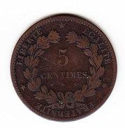 FRANCE KM 821.2, 1877K, 5 Cts. (5BP16) - France