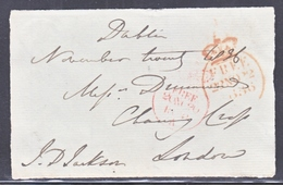 GREAT  BRITAIN  CROWN  CIRCLE  FREE  1835  FRONT ONLY - ...-1840 Prephilately