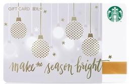 2017 China Starbucks Make The Season Light Gift Card Set RMB100 - China