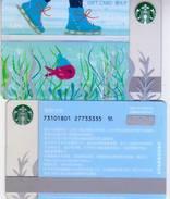 2017 China Starbucks Happiness Skating Gift Card Set RMB100 - China