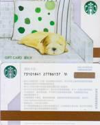 2017 China Starbucks Warm Of Pet Dog Gift Card Set RMB100 - China