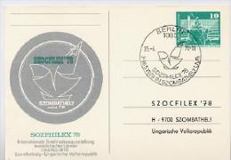 DDR Sonder-Postkarte P83-1b-78 PRIVATER ZUDRUCK Sozphilex Sost. 1978 - DDR