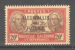Wallis & Futuna 1930,Overprinted ,20 Fr ,Sc 84,VF MNH**OG (K-8) - Wallis And Futuna