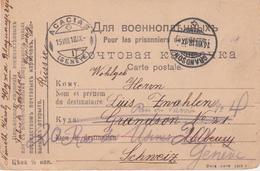 Russia  Postal History . Prisoner Mail Uzha Vladimir Province  To Swiss - Briefe U. Dokumente