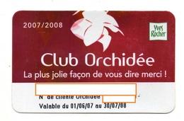 CARTE DE FIDELITE  YVES ROCHER Club Orchidée - Francia