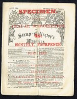 April 1868  Stamp Collector Magazine - Specimen Copy -  24-page Monthly - Zeitschriften