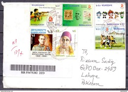 Bangladesh To Pakistan Used Traveled Cover (ENV-10)