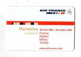 AIR FRANCE HORAIRES/TIMETABLE  2004  AU DEPART DE  *France *Algérie *Maroc *Tunisie - Timetables