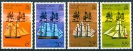 1976 Turks & Caicos Velieri Navi Sailing Boat Ships Bateaux A Voile Set + Block MNH** RR94 - Turks E Caicos