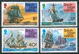 1976 British Virgin Island Velieri Navi Sailing Boat Ships Bateaux A Voile Set + Block MNH** RR95 - British Virgin Islands
