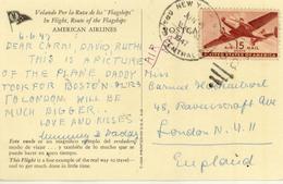 U.S. / American Airlines Plane Postcards. - Poststempel