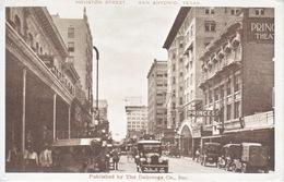 SAN  ANTONIO, TEXAS    HOUSTON  STREET   USED  1918  MILITARY  BRANCH - San Antonio