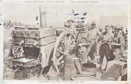 SAN  ANTONIO, TEXAS    FIELD  KITCHEN,  CAMP  TRAVIS   USED  1918  MILITARY  BRANCH - San Antonio