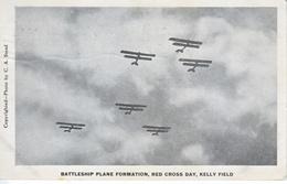 SAN  ANTONIO, TEXAS   AEROPLANES  RED  CROSS DAY     USED  1918  MILITARY  BRANCH - 1914-1918: 1st War
