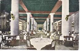 SAN  ANTONIO, TEXAS   INTERIOR GUNTER  HOTEL     USED  1918  MILITARY  BRANCH - San Antonio