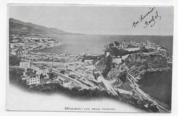 MONACO - LES DEUX POINTES - CPA VOYAGEE - Monaco