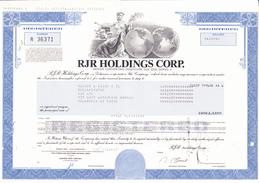 USA - RJR HOLDINGS CORP. - Die Berühmte Wandelanleihe 1989 - Shareholdings