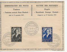Oblitération 1er Jour-Fondation Musicale Reine Elisabeth. - Belgique