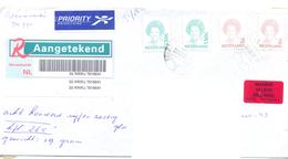 1998. Netherlands, The Letter Sent By Registered Post To Moldova - Period 1980-... (Beatrix)