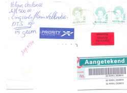 1999. Netherlands, The Letter Sent By Registered Post To Moldova - Period 1980-... (Beatrix)